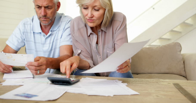 Couple Paying Bills