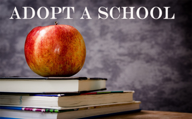 Books and apple Adopt a School